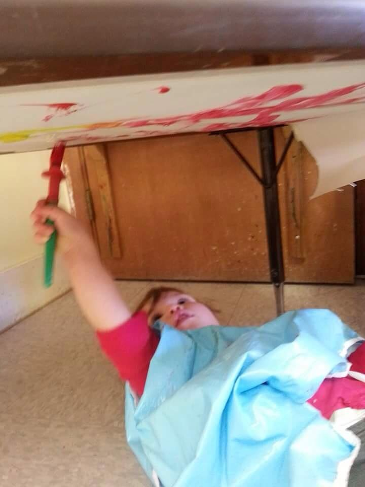 Daycare Bloomington - Painting under the table
